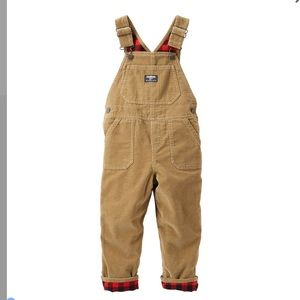 HP 11/21😎OshKosh Flannel-Lined Corduroy Overalls
